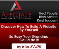 Build your website with the Affiliate Power Group