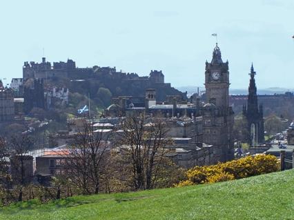 View of Edinburgh Castle from Calton Hill