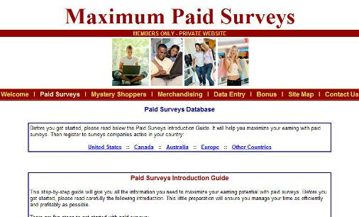 Maximum Paid Surveys Database